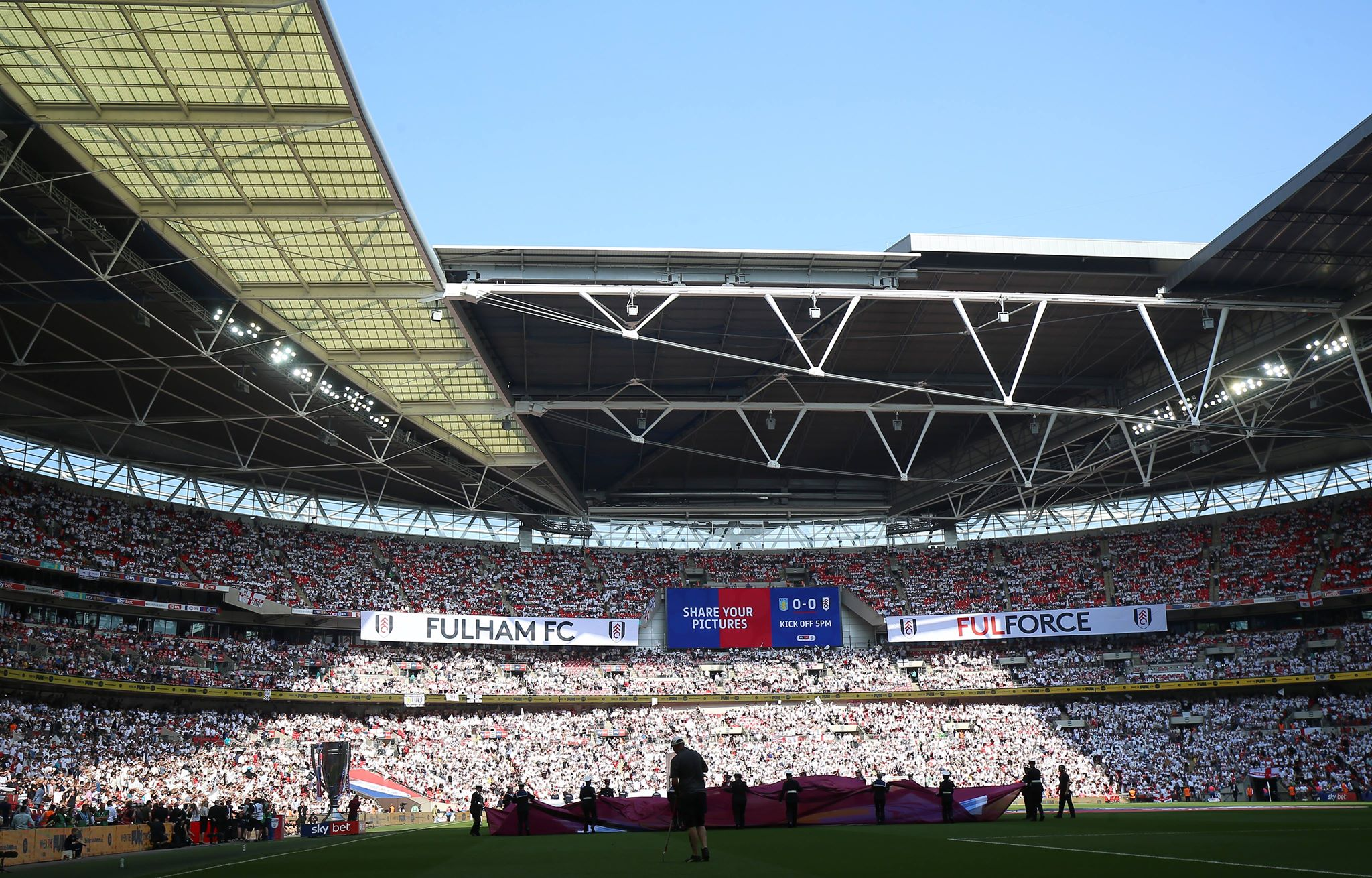 Aston Villa fans react to their Play-Off final defeat to Fulham