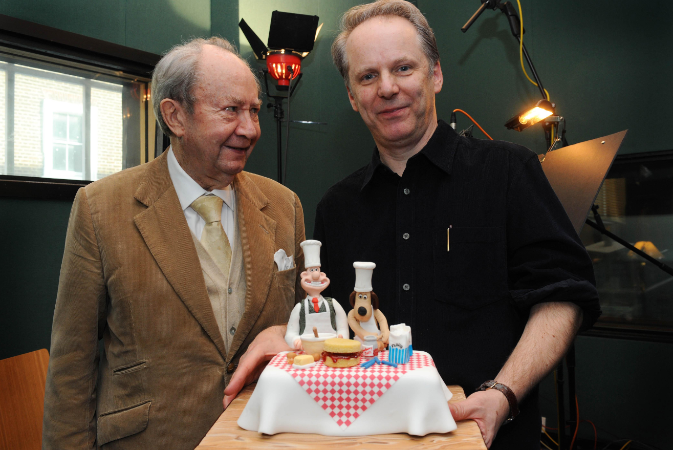 Park (right) with Peter Sallis, who voiced Wallace before passing away in 2017. Credit: PA