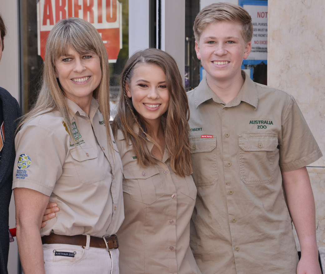 The Irwins attending the ceremony for Steve Irwin's posthumous star on the The Hollywood Walk Of Fame Credit: PA