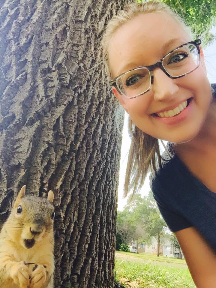 This squirrel wasn't expecting a selfie...