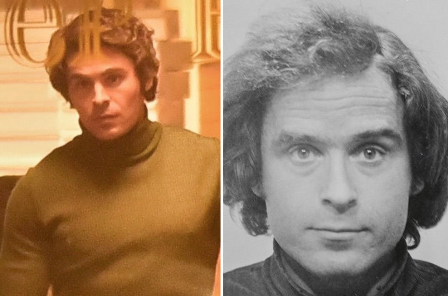 Zac Efron transported in police automobile for Ted Bundy biopic