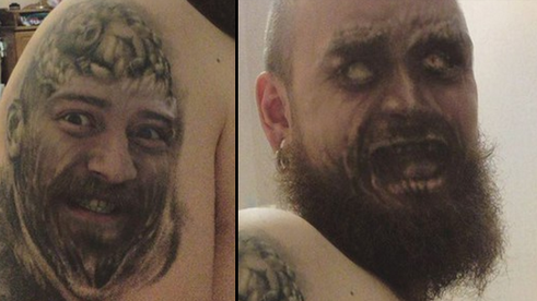 This lad 39 s face swap with his tattoo goes wrong and it 39 s for Face tattoos gone wrong