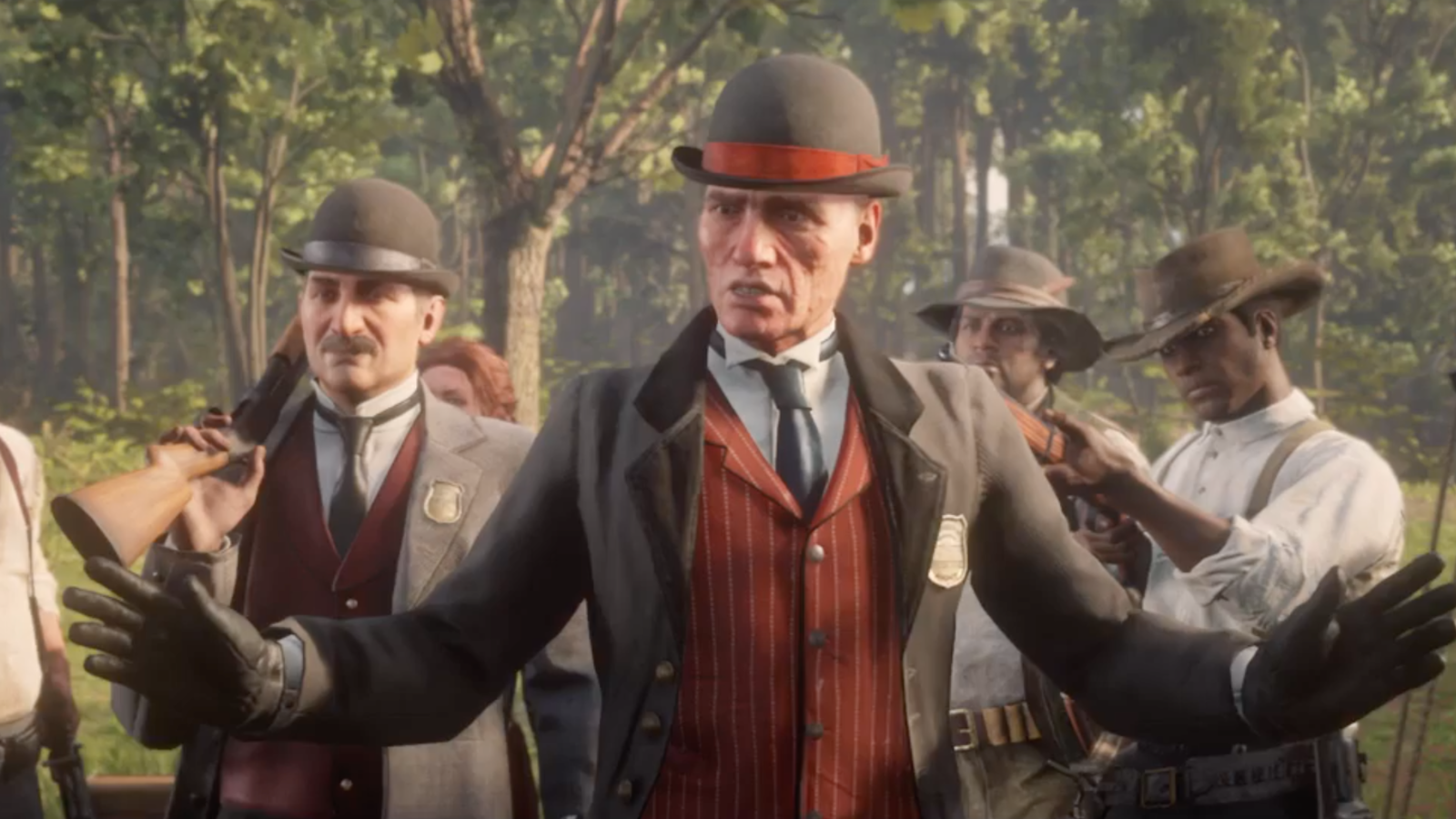 Pinkertons in 'Red Dead Redemption 2'. Credit: Rockstar Games