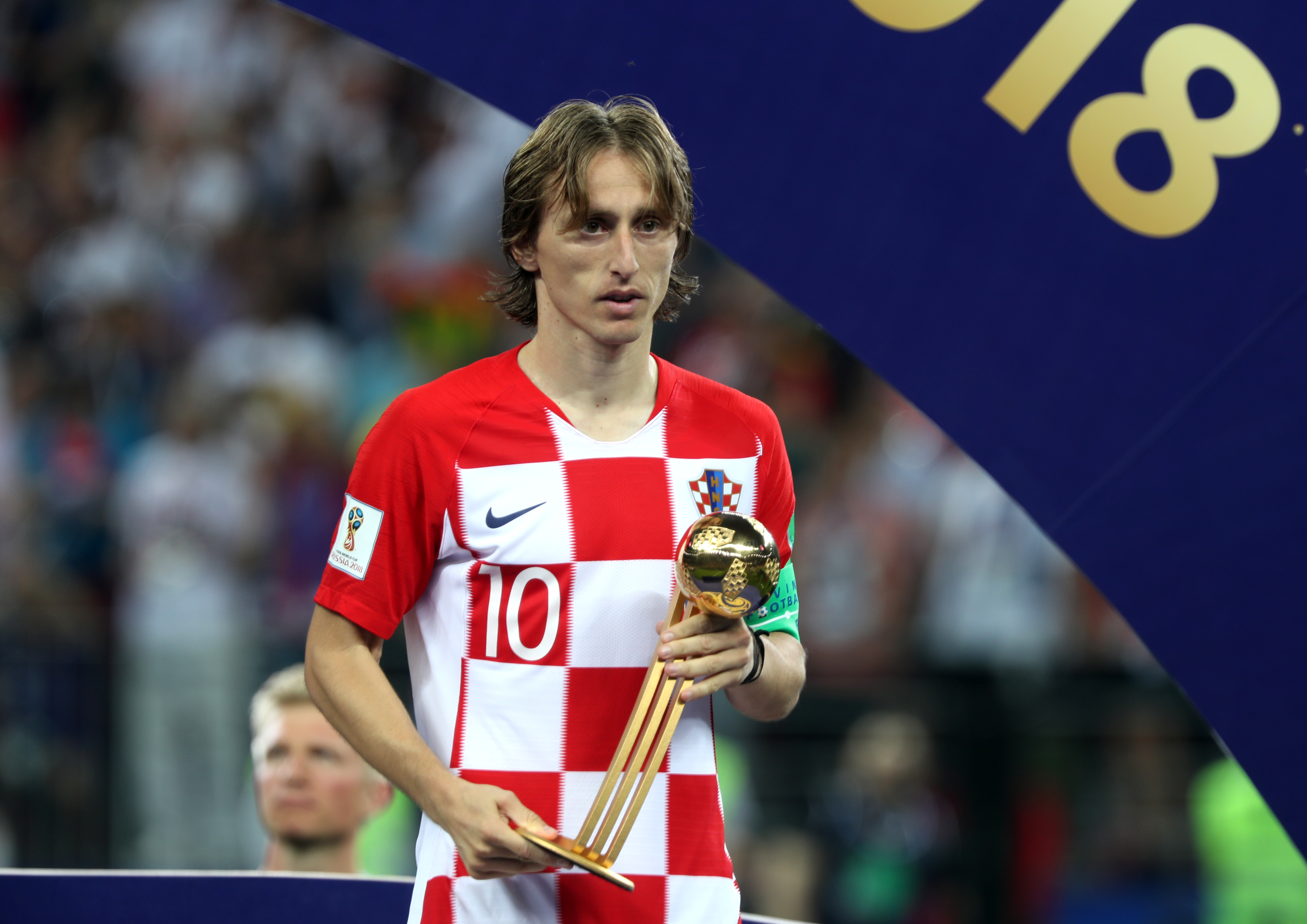 Modric with the Golden Ball award. Image: PA Images