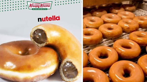 Chocolate Lovers, The New Krispy Kreme Doughnut Is Filled With Naughty Nutella