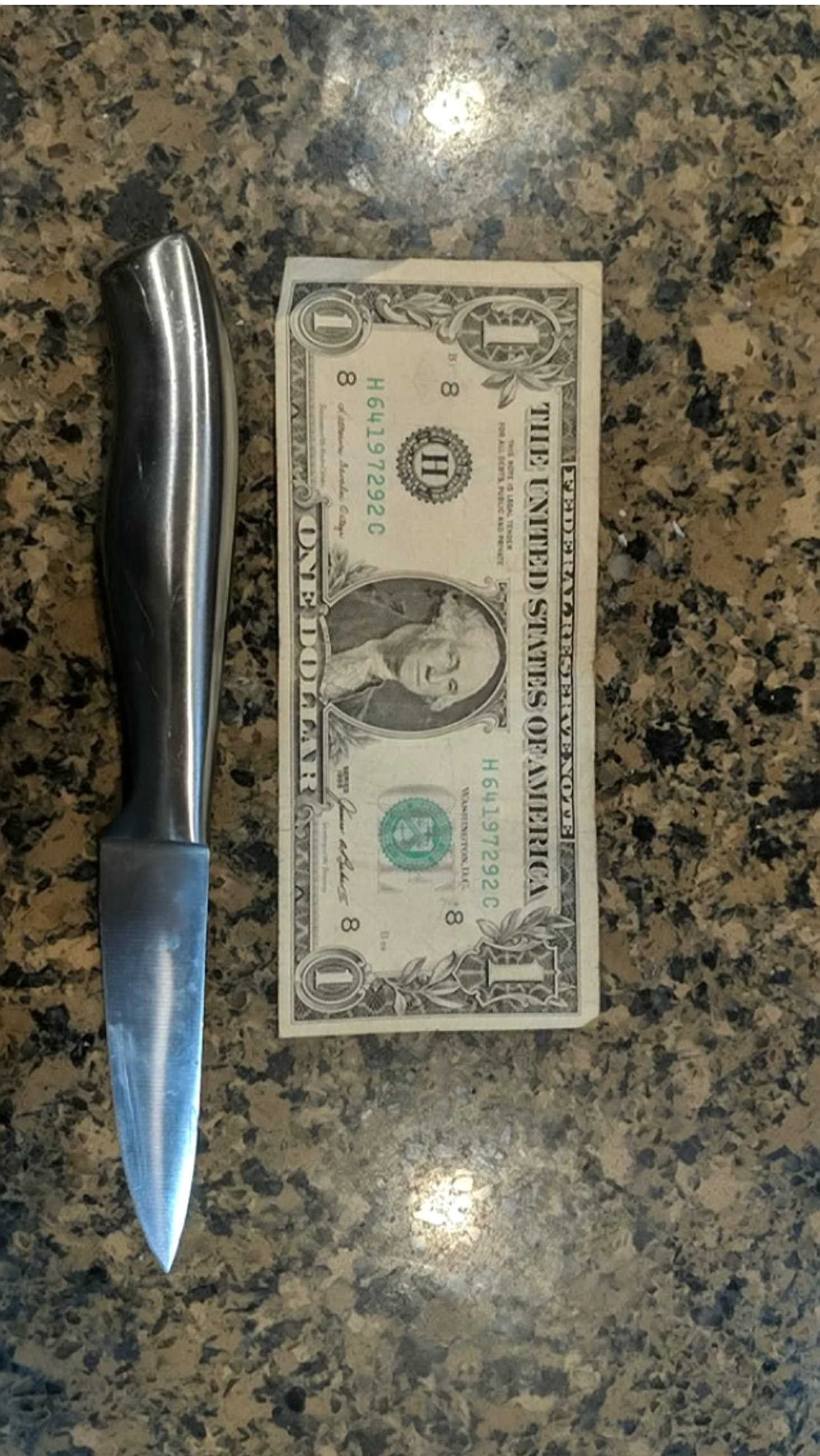 The offending knife that cut Melissa's hand open. Credit: SWNS