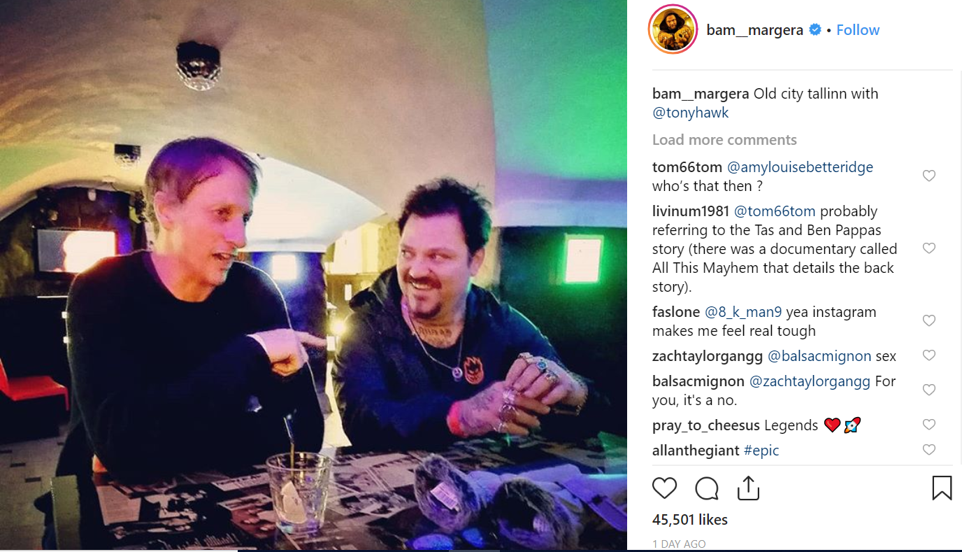 Bam and Tony, reunited in Estonia. Credit: Bam Margera