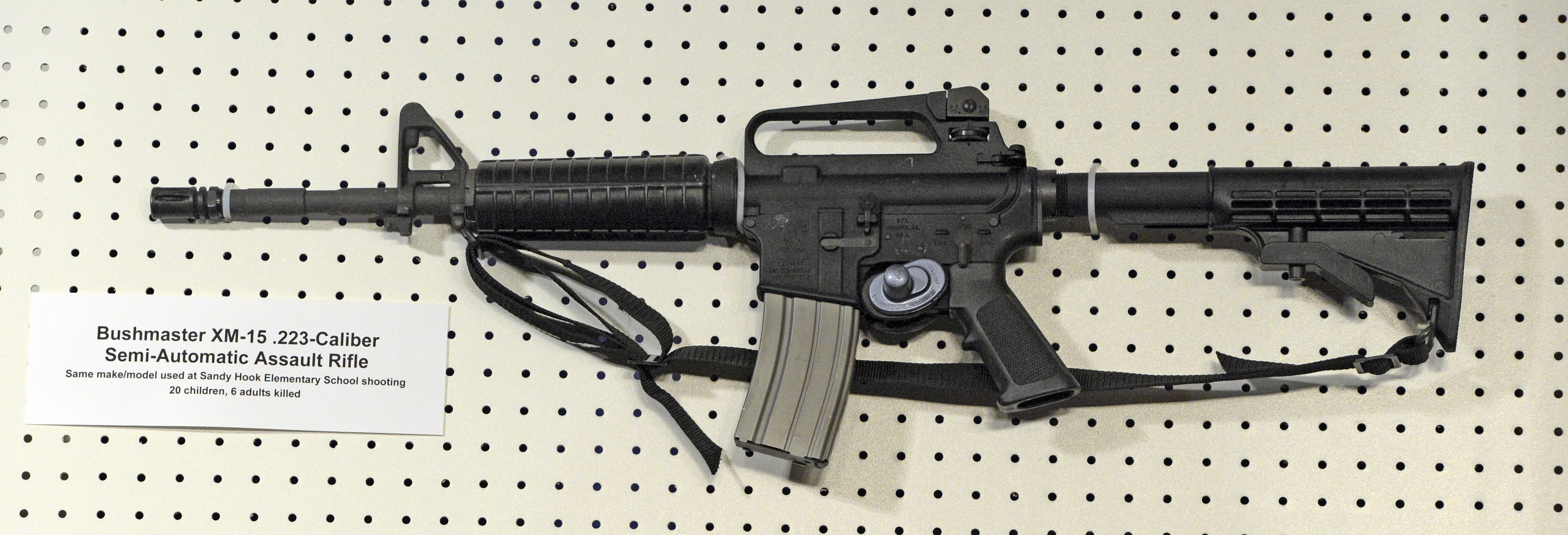 An AR-15 semi-automatic weapon - which has been used in many US mass shootings. Credit: PA