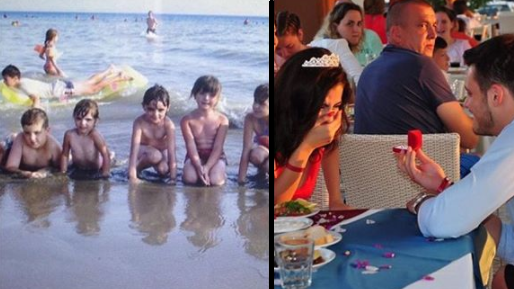 Man Spots Himself In The Background Of Fiancee's Childhood Photo