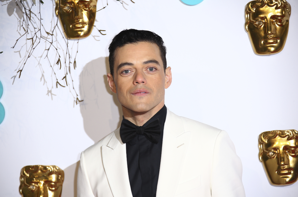 Rami Malek on the red carpet at this evening's BAFTA awards. Credit: PA