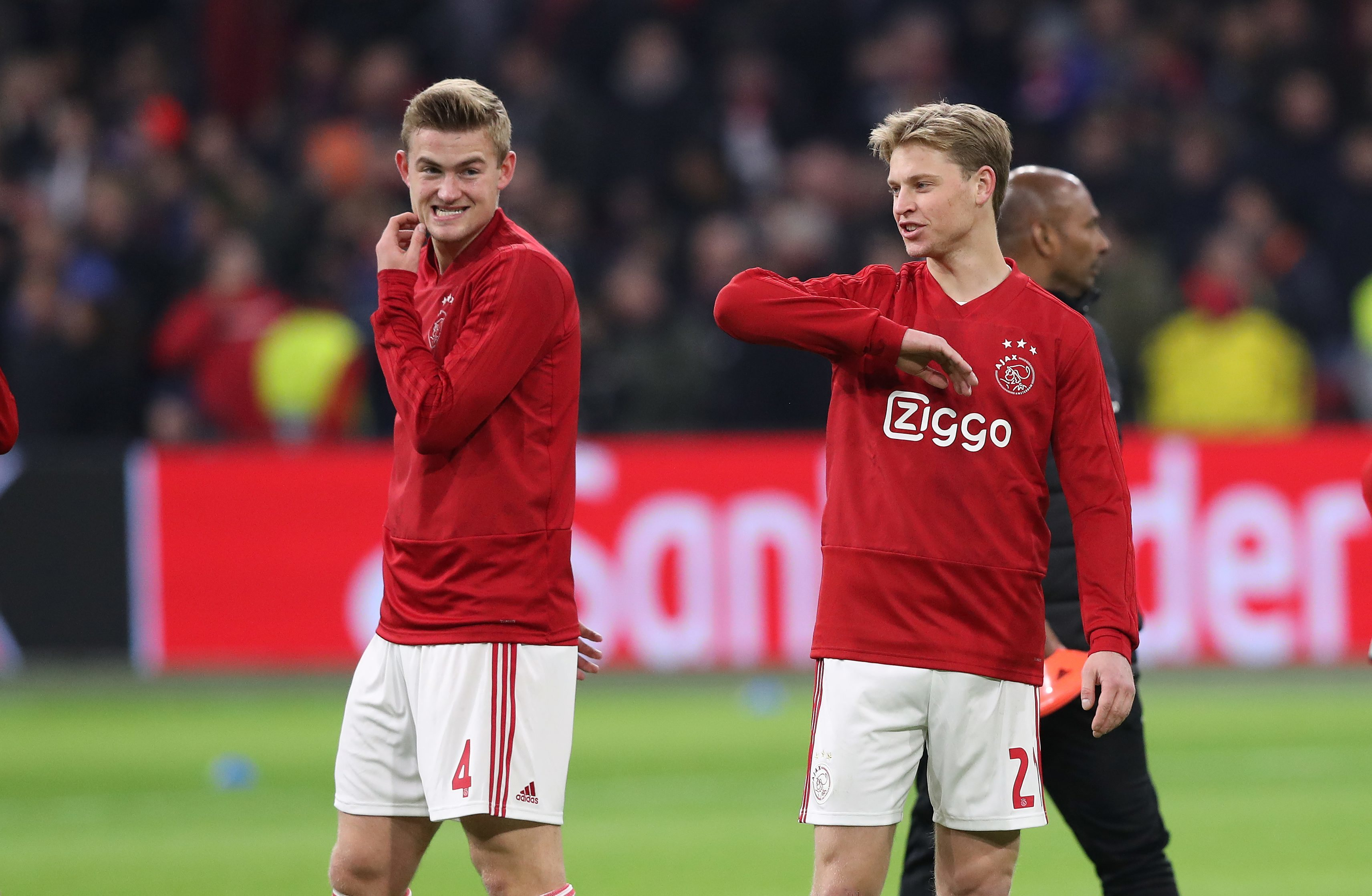 De Jong and De Ligt look set to continue as teammates. Image: PA Images
