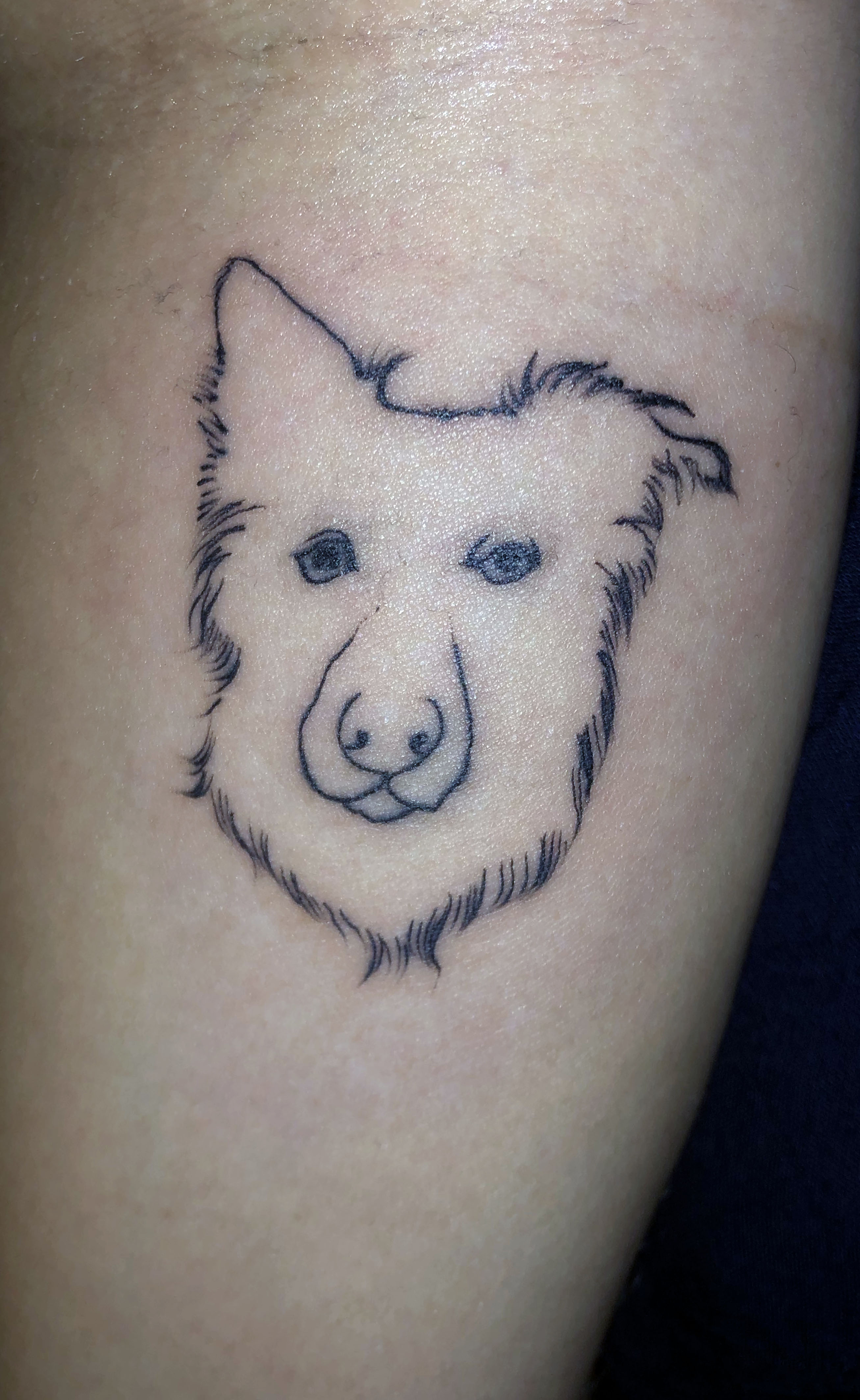 Kayla's tattoo before it was fixed. Credit: Caters