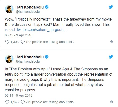 'The Simpsons' responds to Apu stereotyping criticism, gets more criticism