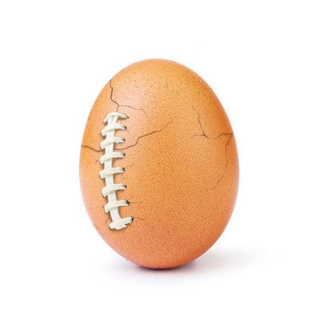 The Super Bowl egg. Credit: Instagram