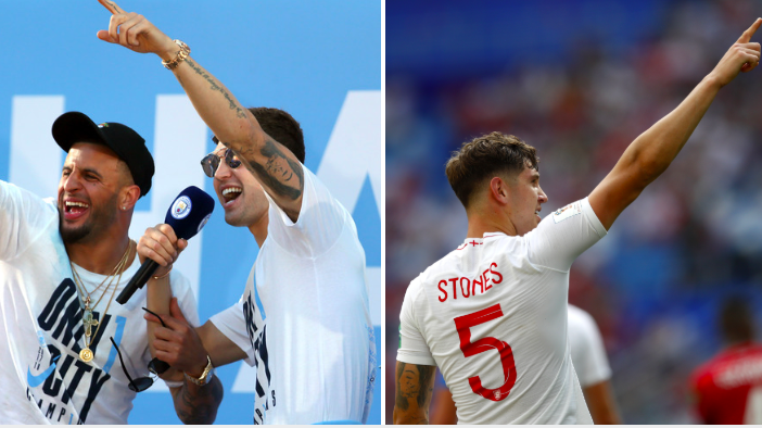 Kyle Walker Offers To Pay For Fan's John Stones Tattoo After His Brace