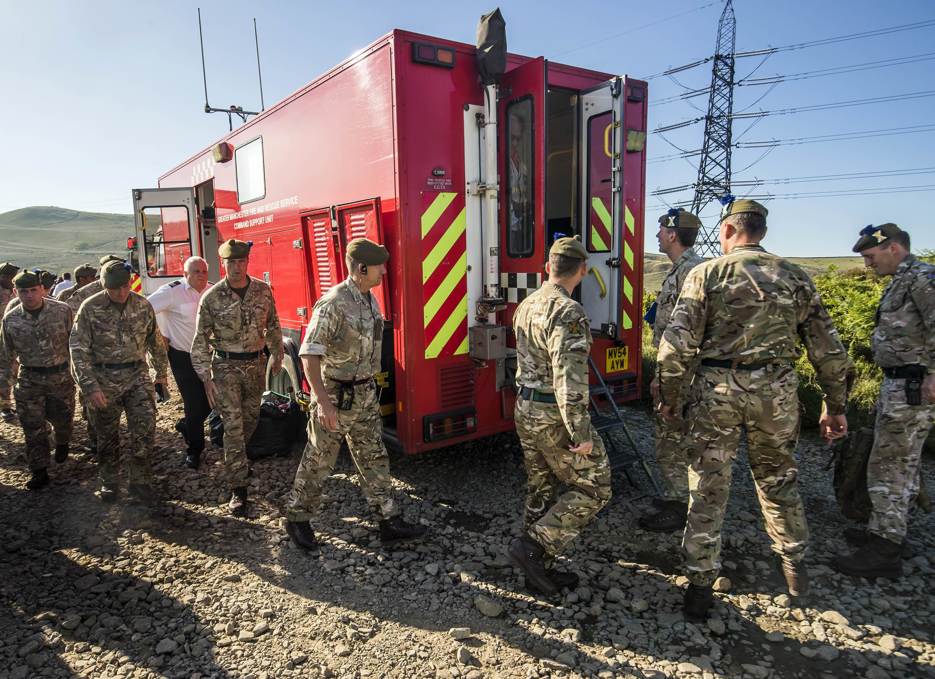 The army was deployed to Saddleworth last year. Credit: PA