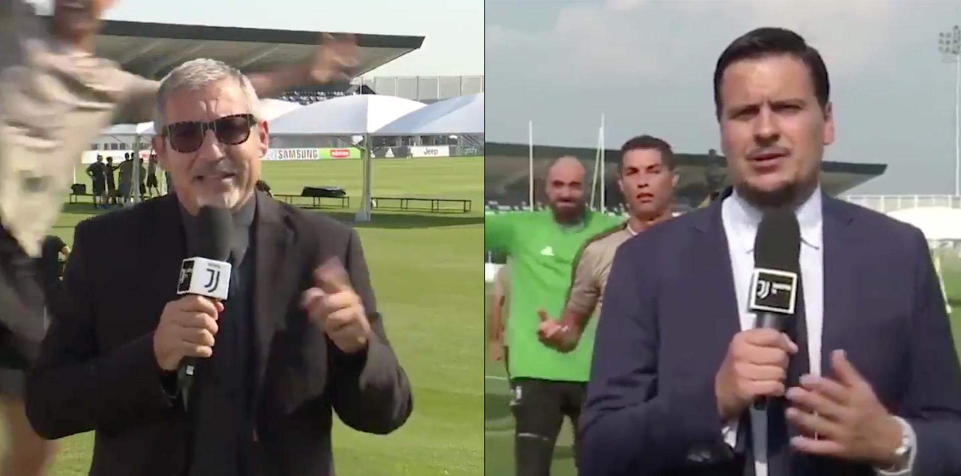 Cristiano Ronaldo Hilariously Trolls Juventus Reporters At Training