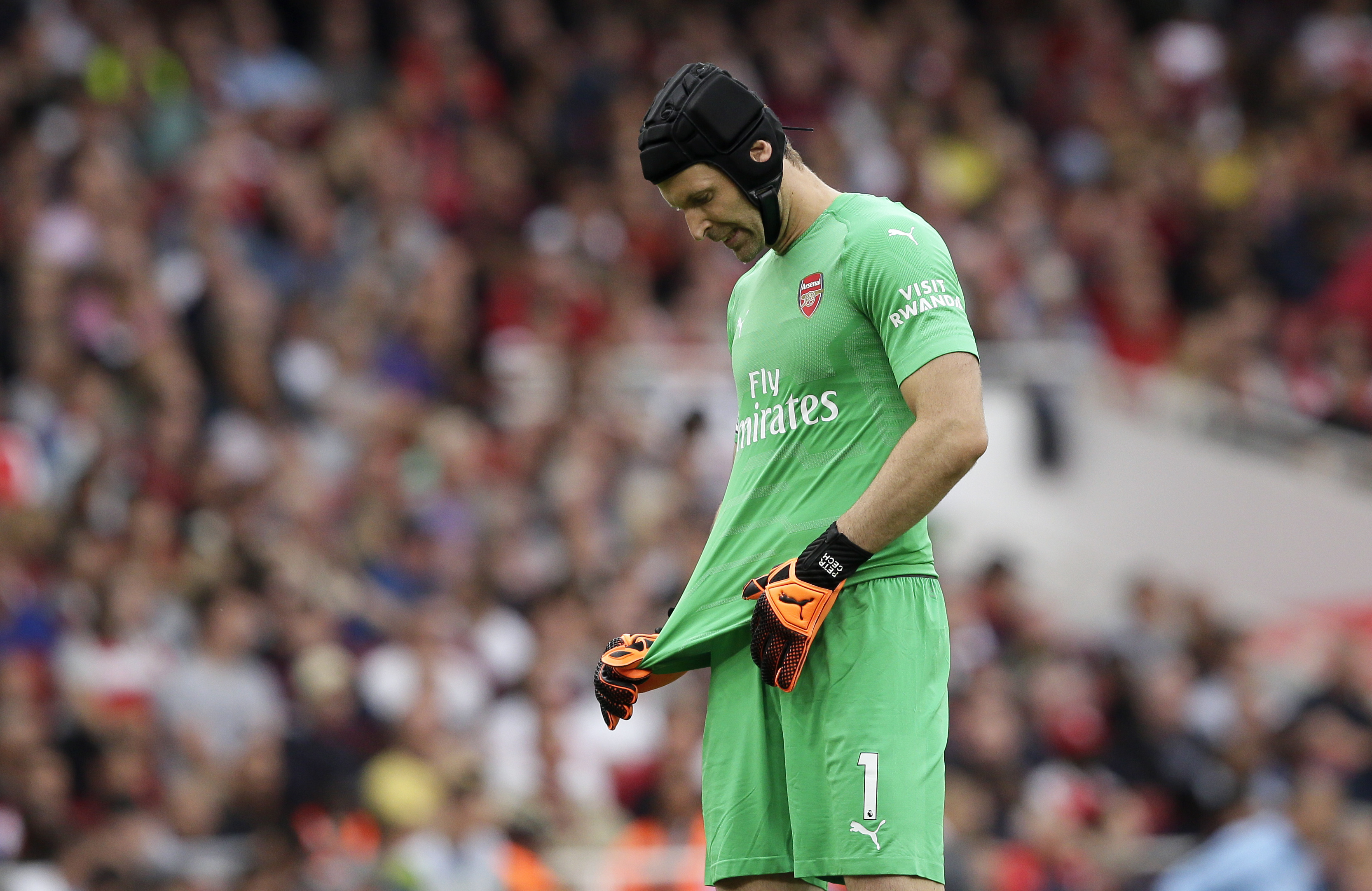 Cech didn't have a good time against City. Image PA Images