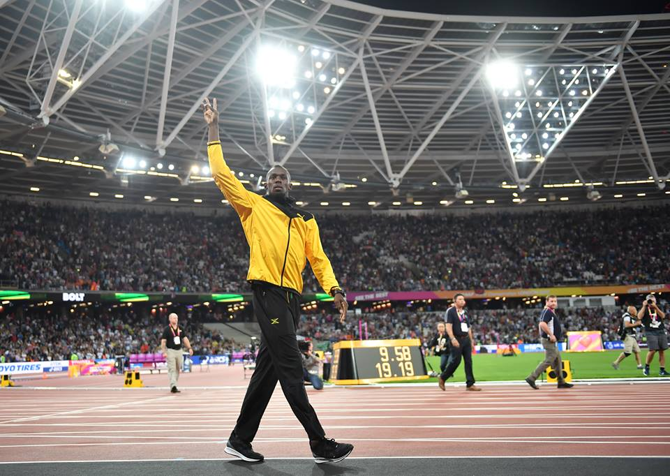Usain Bolt guides Jamaica through to his farewell final in 4x100m relay