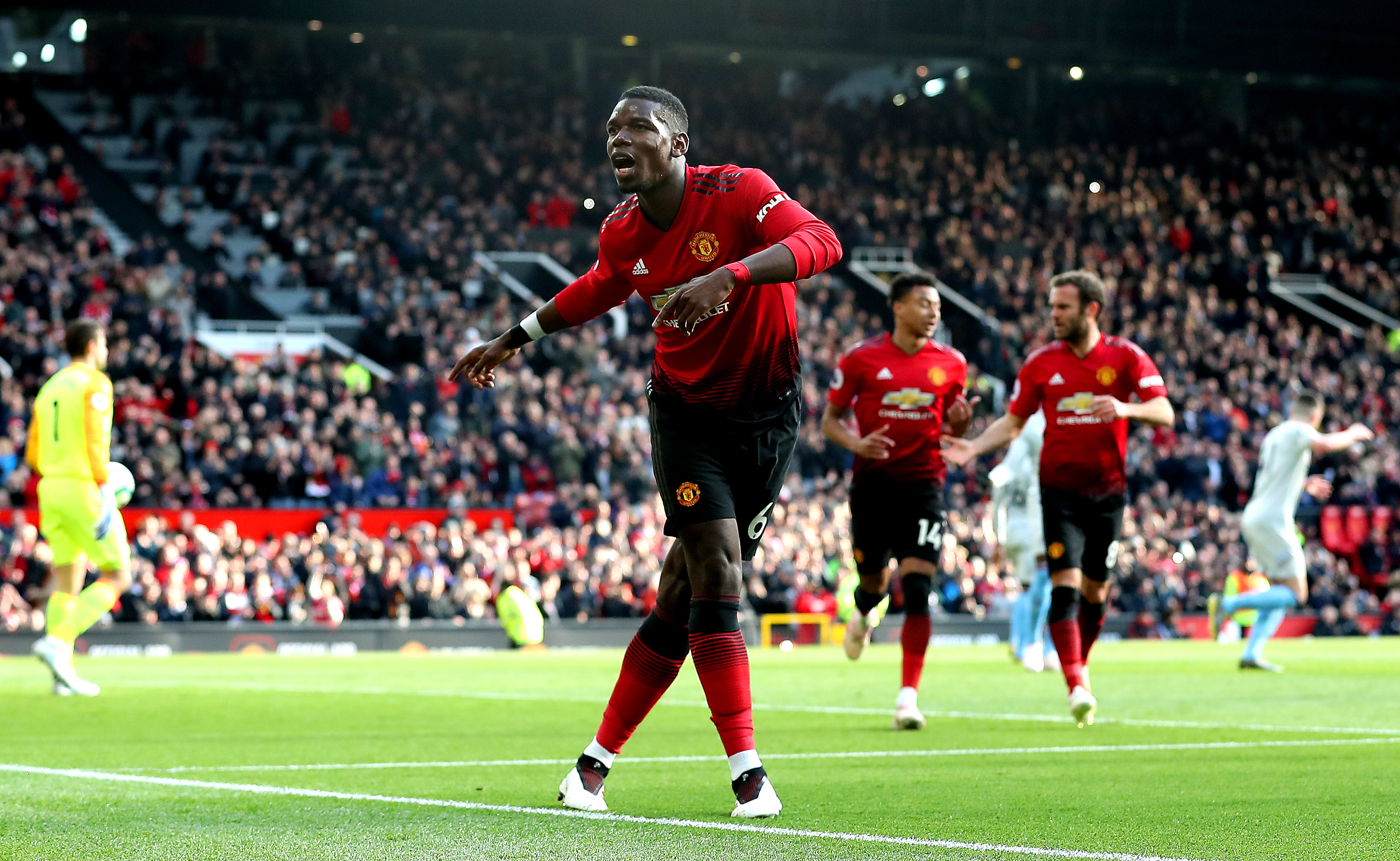 Paul Pogba dancing out of United like...(Image: PA Images)