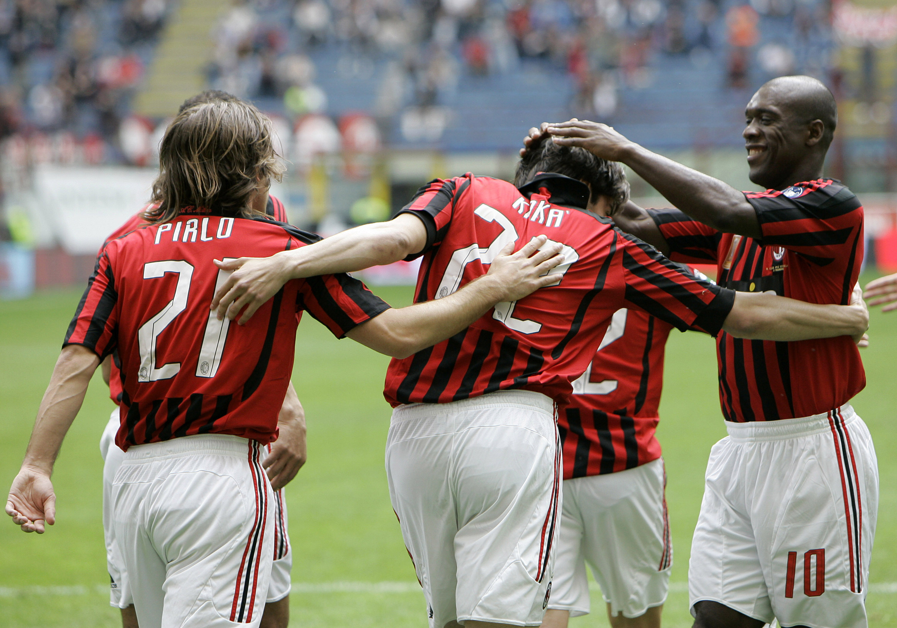 Pirlo, Seedorf and Kaka- not a bad midfield! Image: PA Images