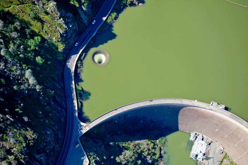 An aerial shot of Lake Berryessa. Credit: PA