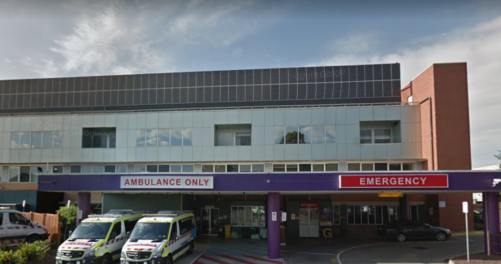 The man was treated at the Footscray Hospital (Credit: Google Maps)