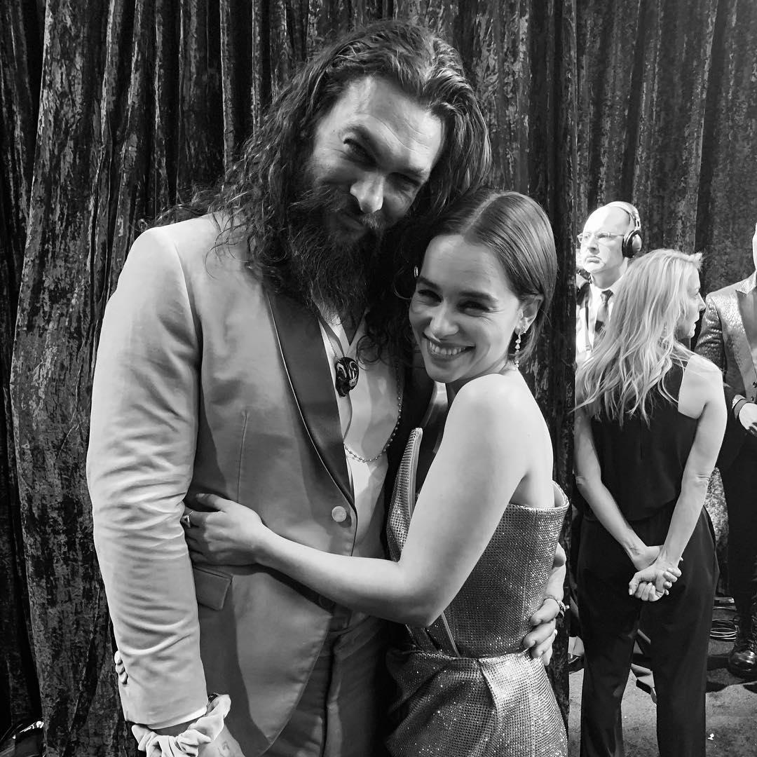 Jason Momoa and Emilia Clarke. Credit: Instagram/Jason Momoa