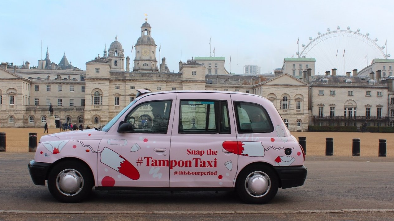 The London Cab Delivering Tampons To Homeless Women