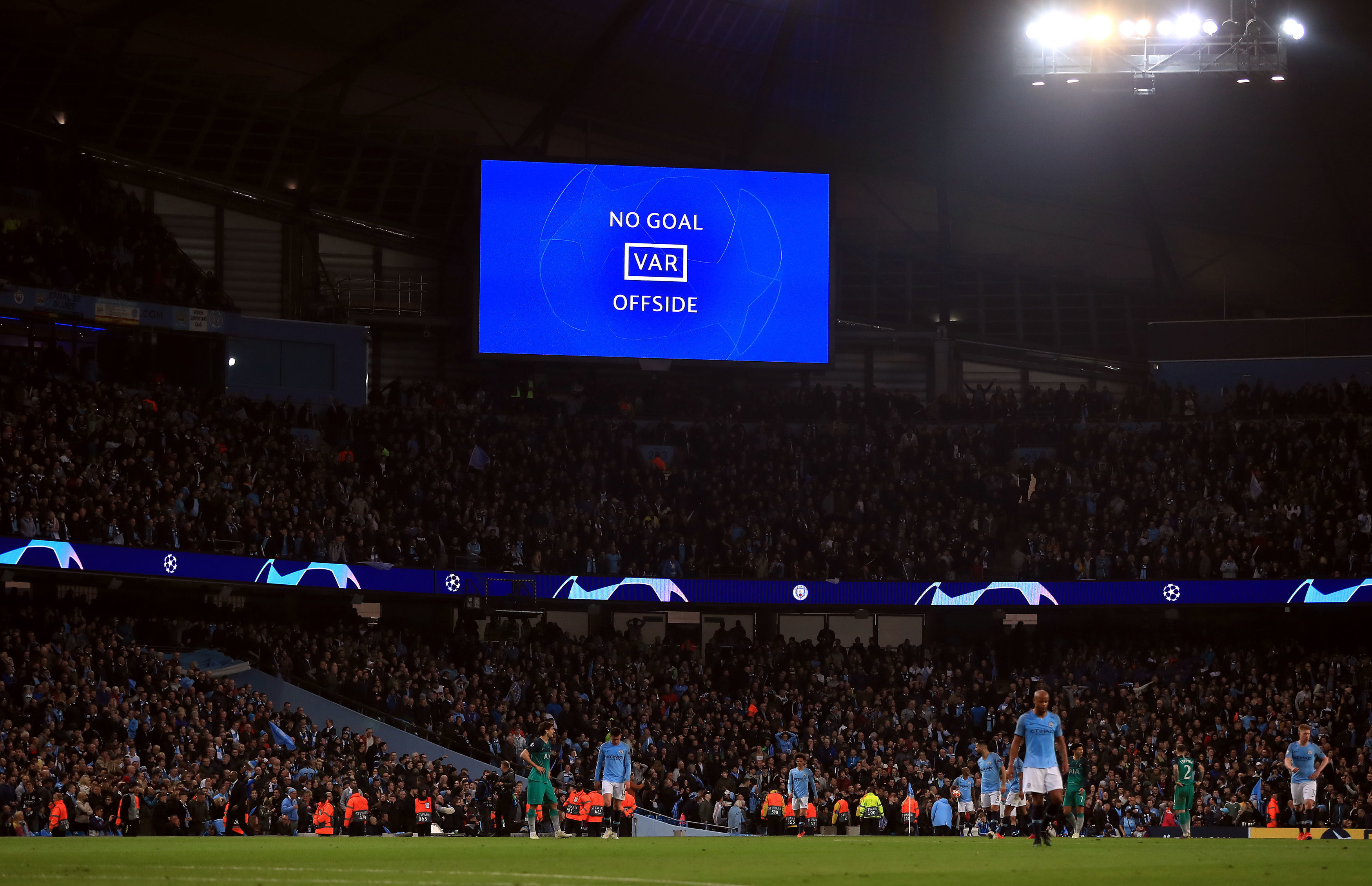 The moment City were denied a place in the Champions League semi final. Image: PA Images