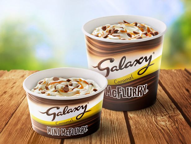 McDonald's also brought back the Galaxy McFlurry for January only. (Credit: McDonald's)