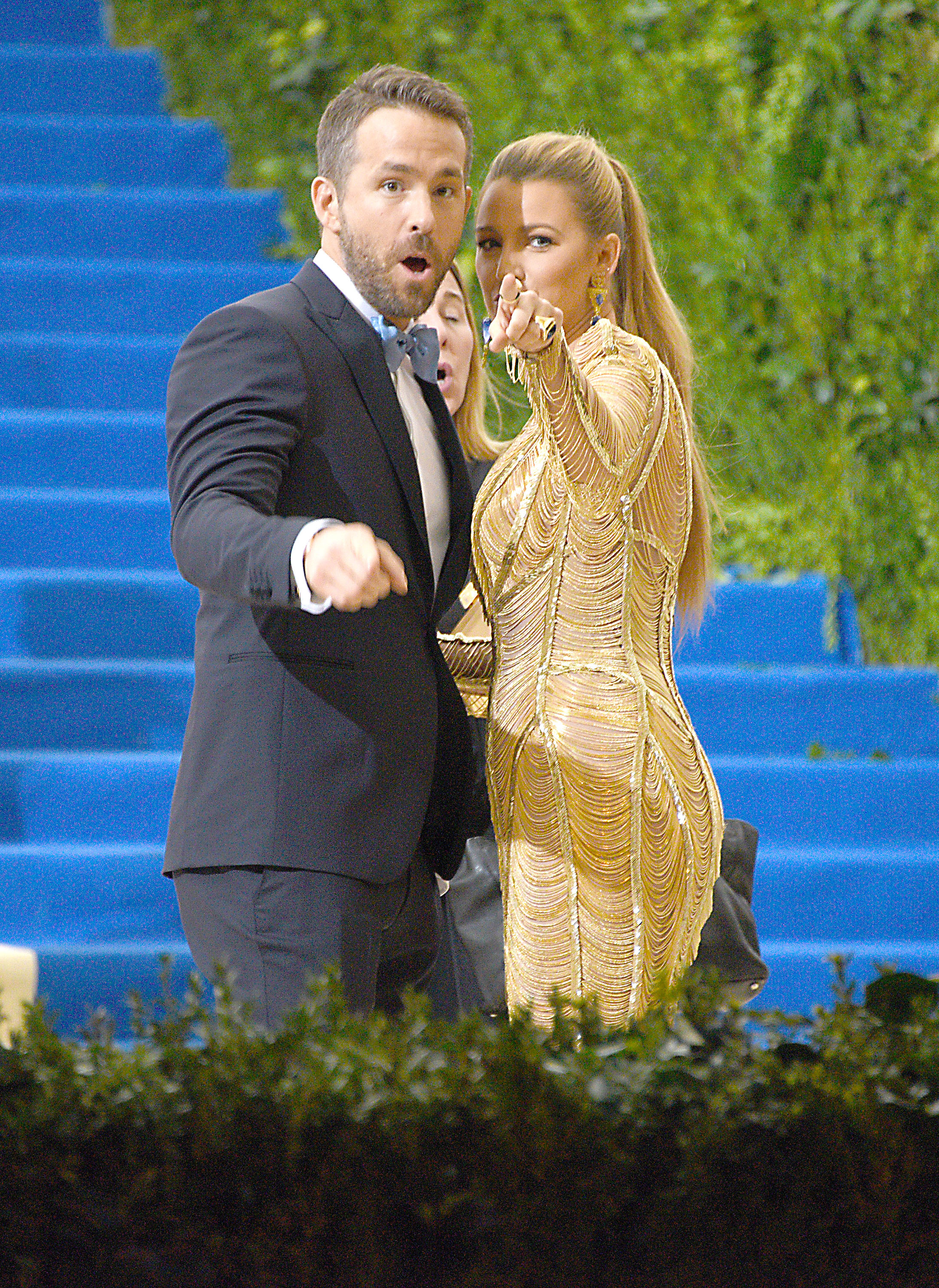 Blake Lively and husband Ryan Reynolds. Credit: PA