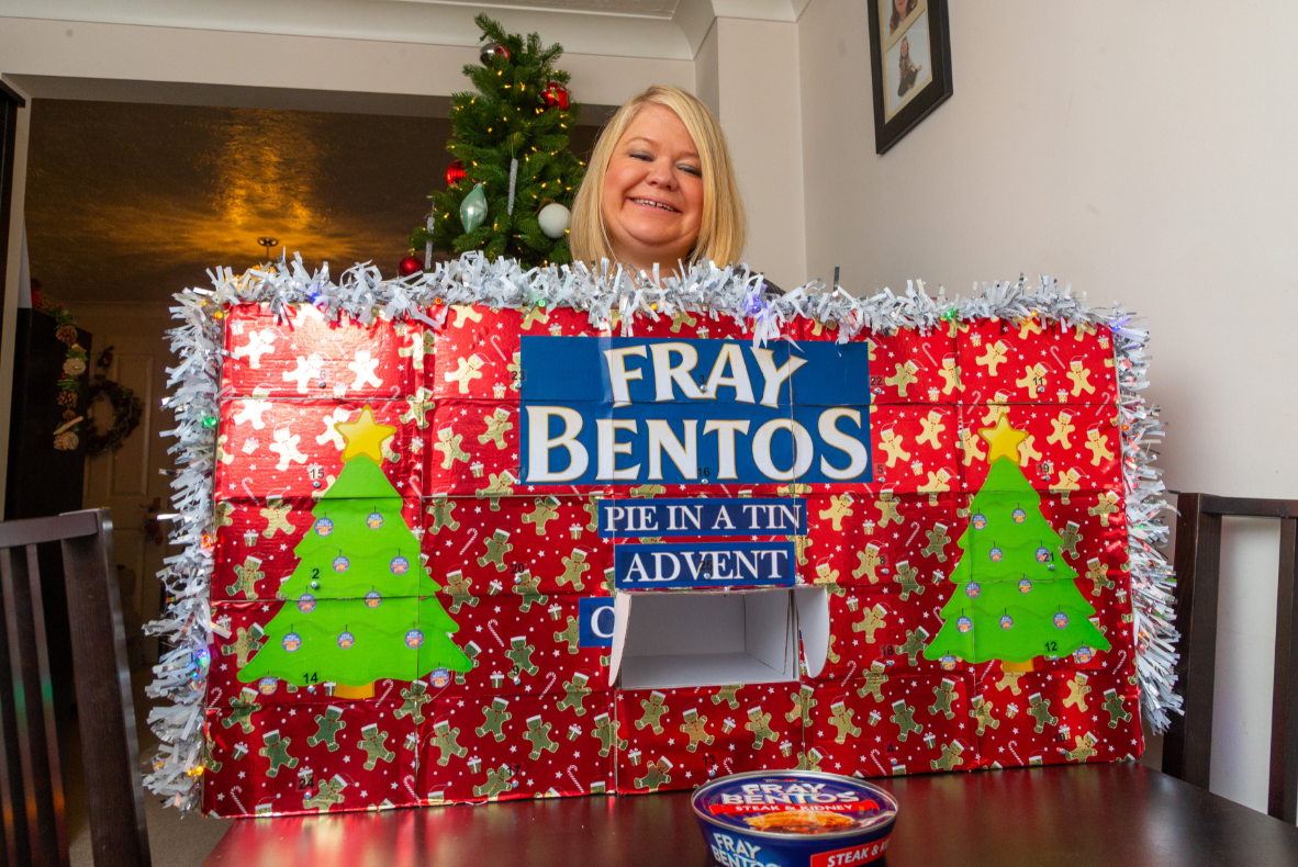 The whole thing cost Nigel just £30 to make, as he managed to find £1 Fray Bentos pies from B&M. Credit: SWNS