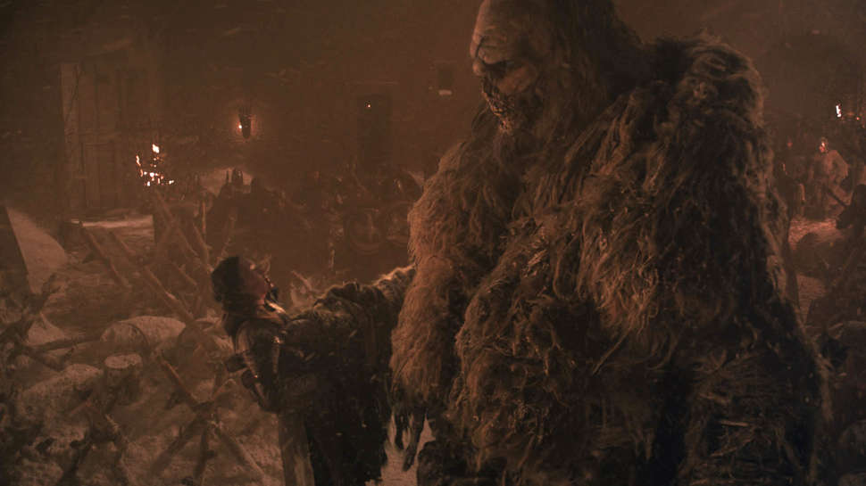 This zombie giant doesn't know what's about to hit him. Credit: HBO