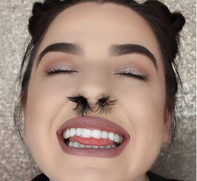 Instagrammers have been giving themselves luxurious nostril hair. Credit: Instagram/@heygorgeousxxx
