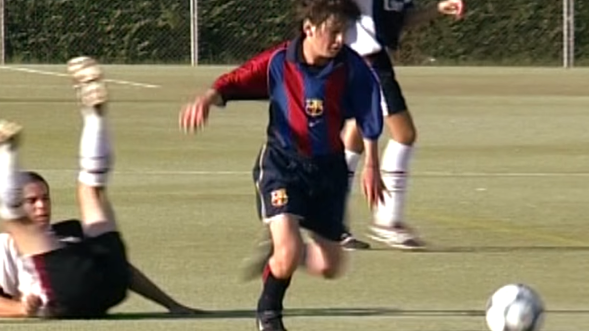 f1ba91d4ce849f A Previously Unseen Compilation Of Lionel Messi During His Time In  Barcelona's Youth Academy
