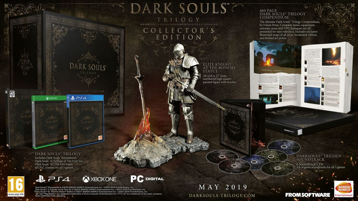 The 'Dark Souls Trilogy Collector's Edition' costs £449.99. Credit: Bandai Namco