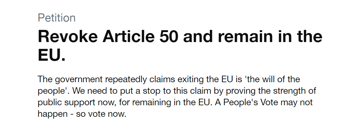 The petition's stated aim. Credit: parliament.uk