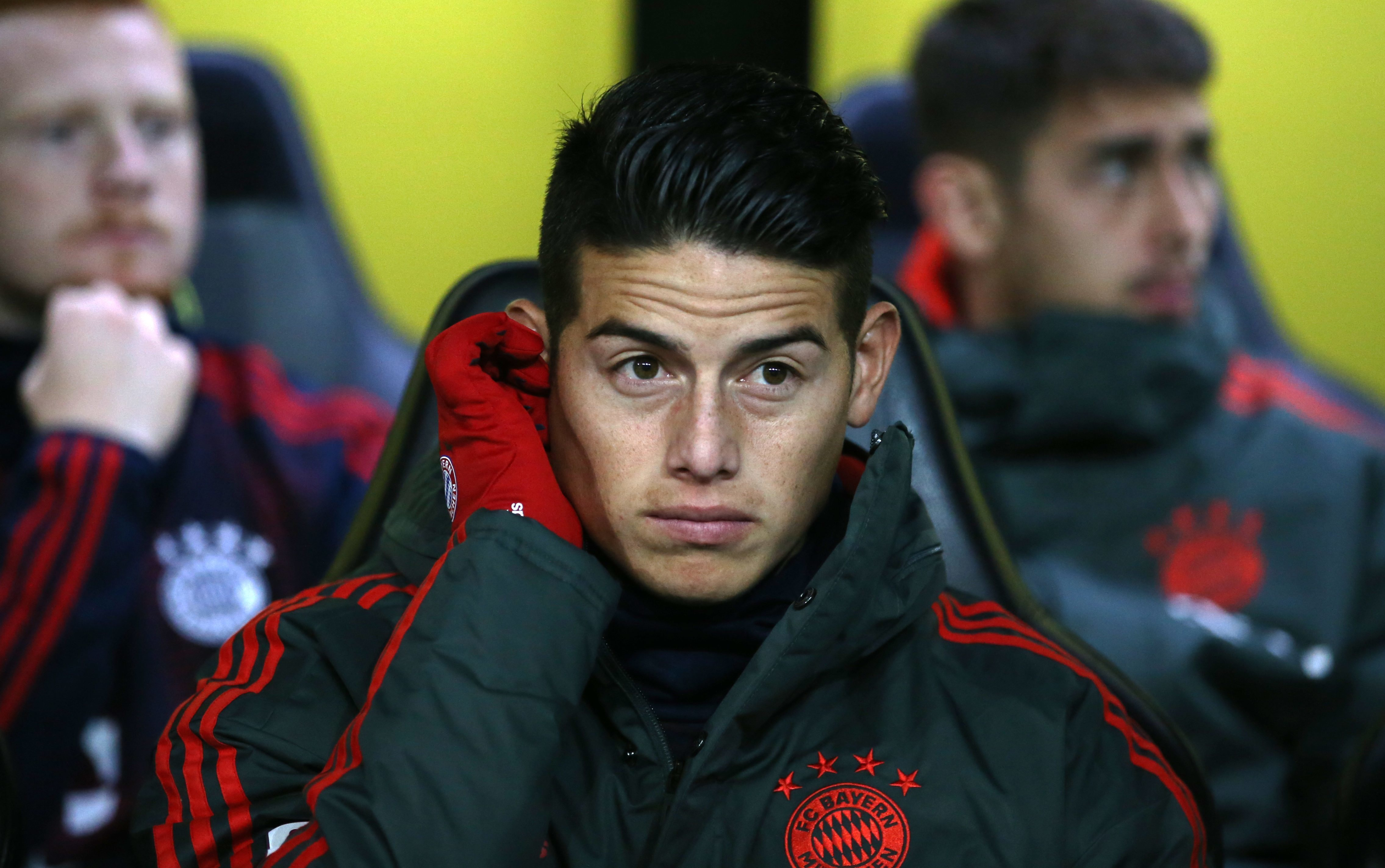 Rodriguez has spent more time on the bench this season than previously. Image PA Images