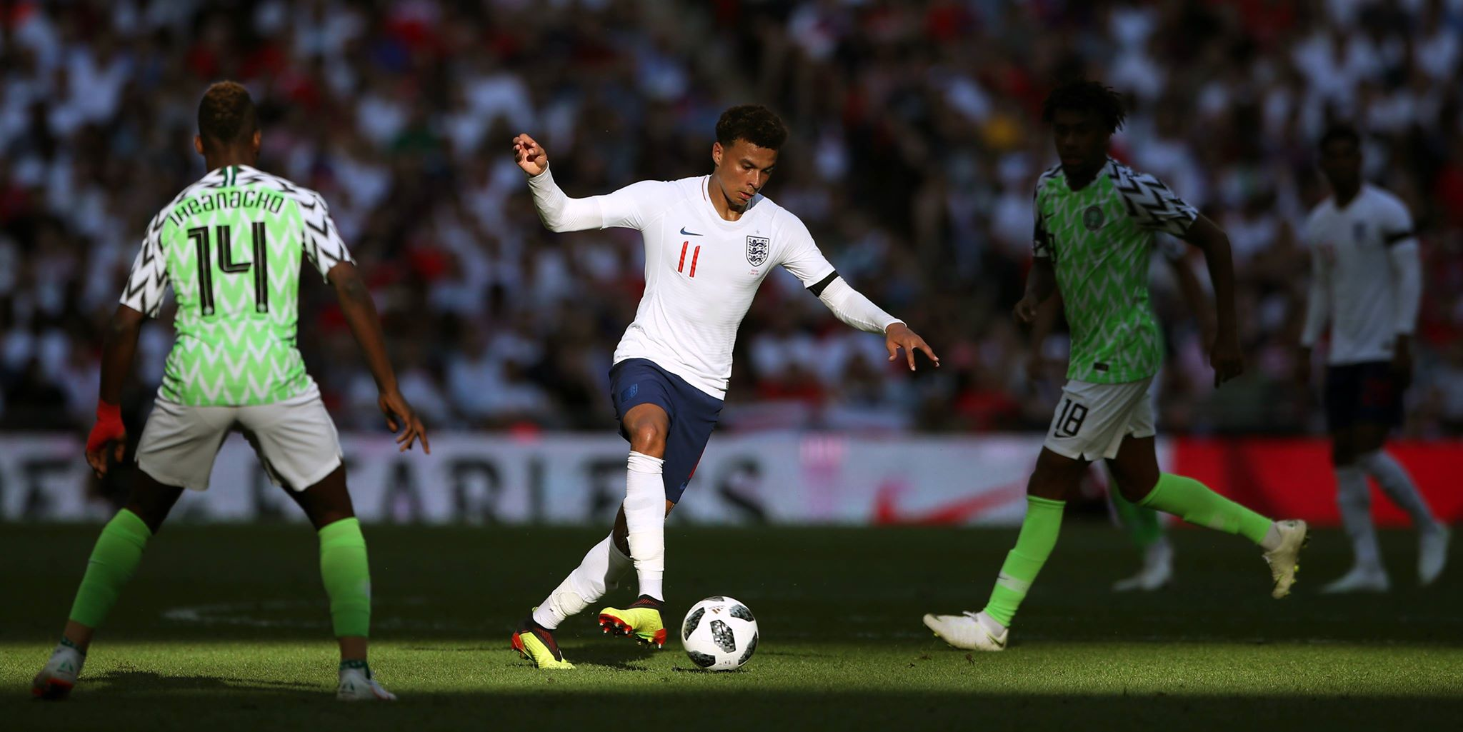 Alli in action for England. Image PA