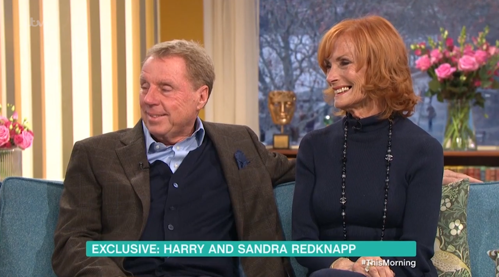 The couple spoke about Harry's time in the jungle. (Credit: ITV)