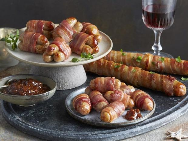 Aldi's foot-long pigs in blankets. Credit: Aldi