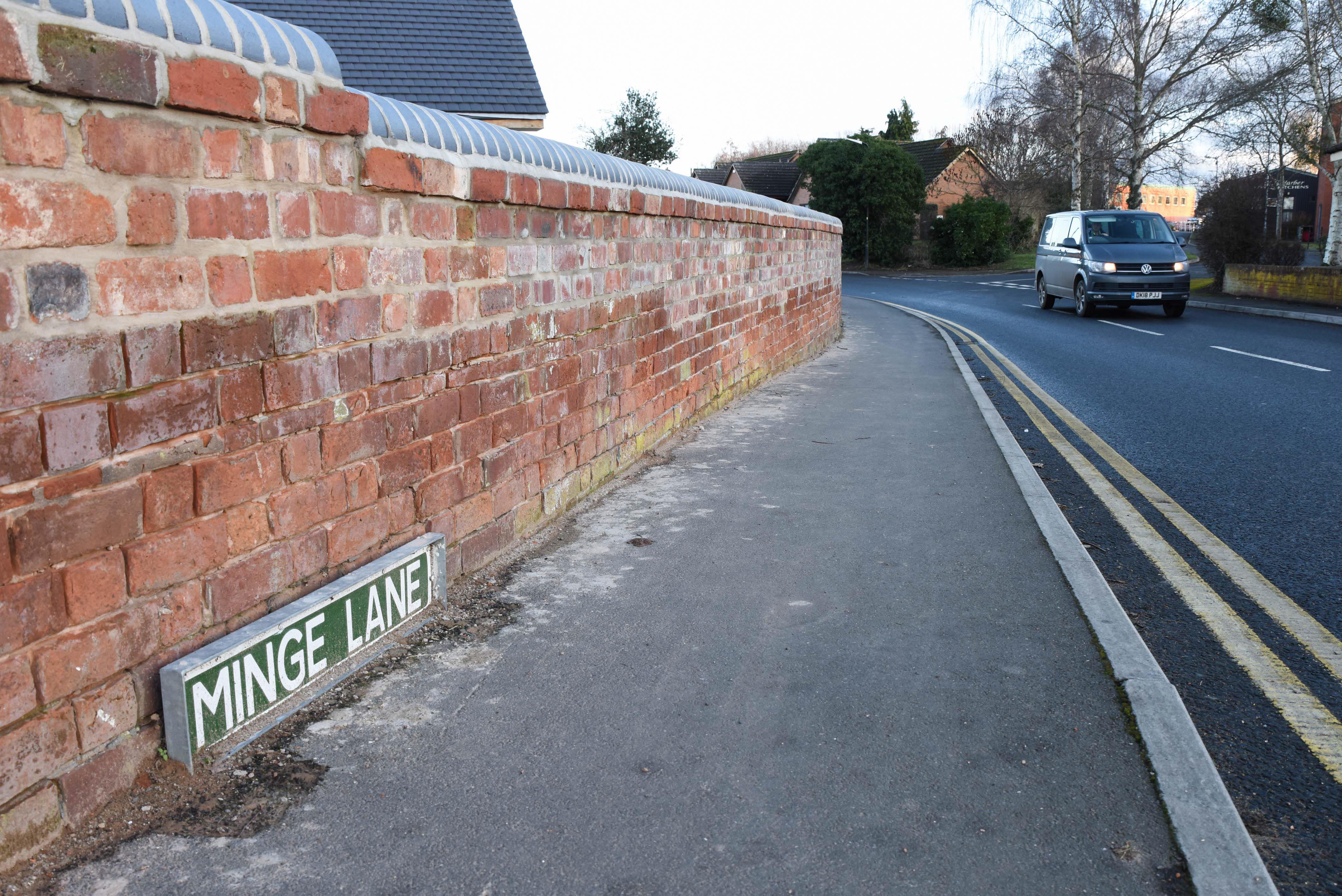 Minge Lane in Upton-upon-Severn. Credit: Caters