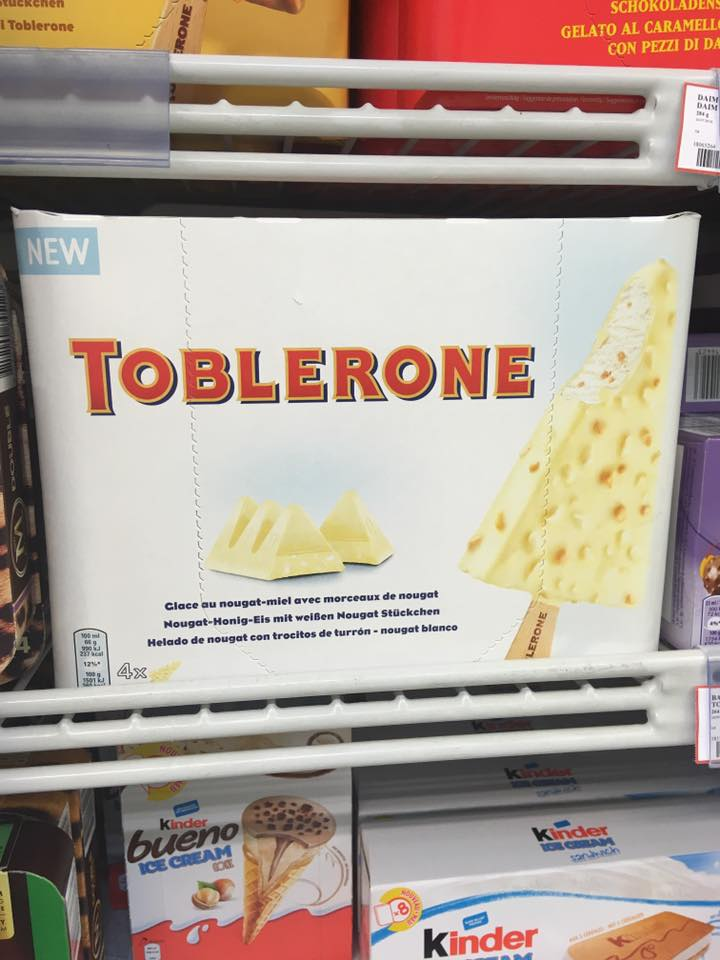 You Can Now Get White Chocolate Toblerone Ice Creams Ladbible