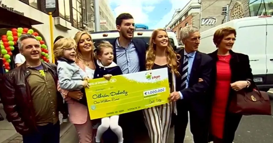 Odhran and his family. Credit: RTE