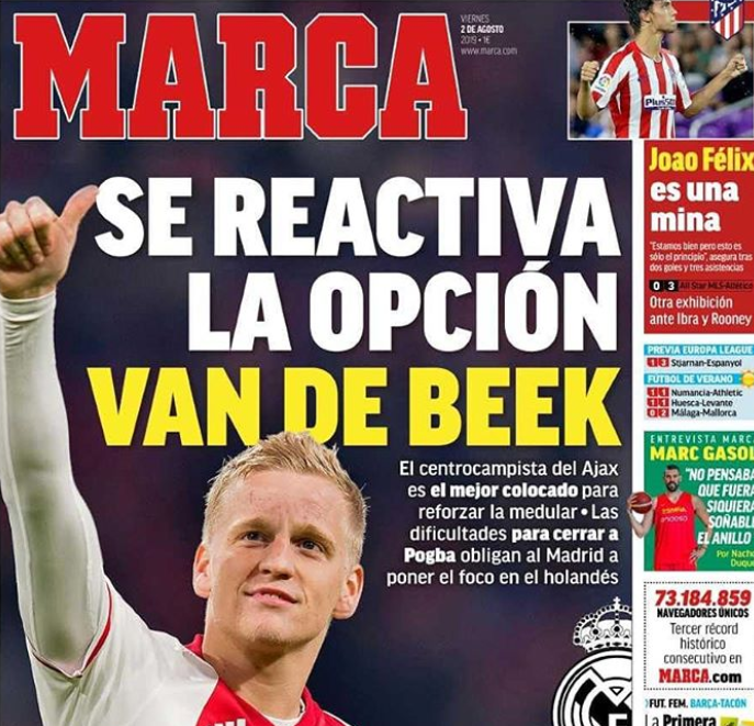 Real Madrid Reach Personal Agreement With Donny Van De Beek