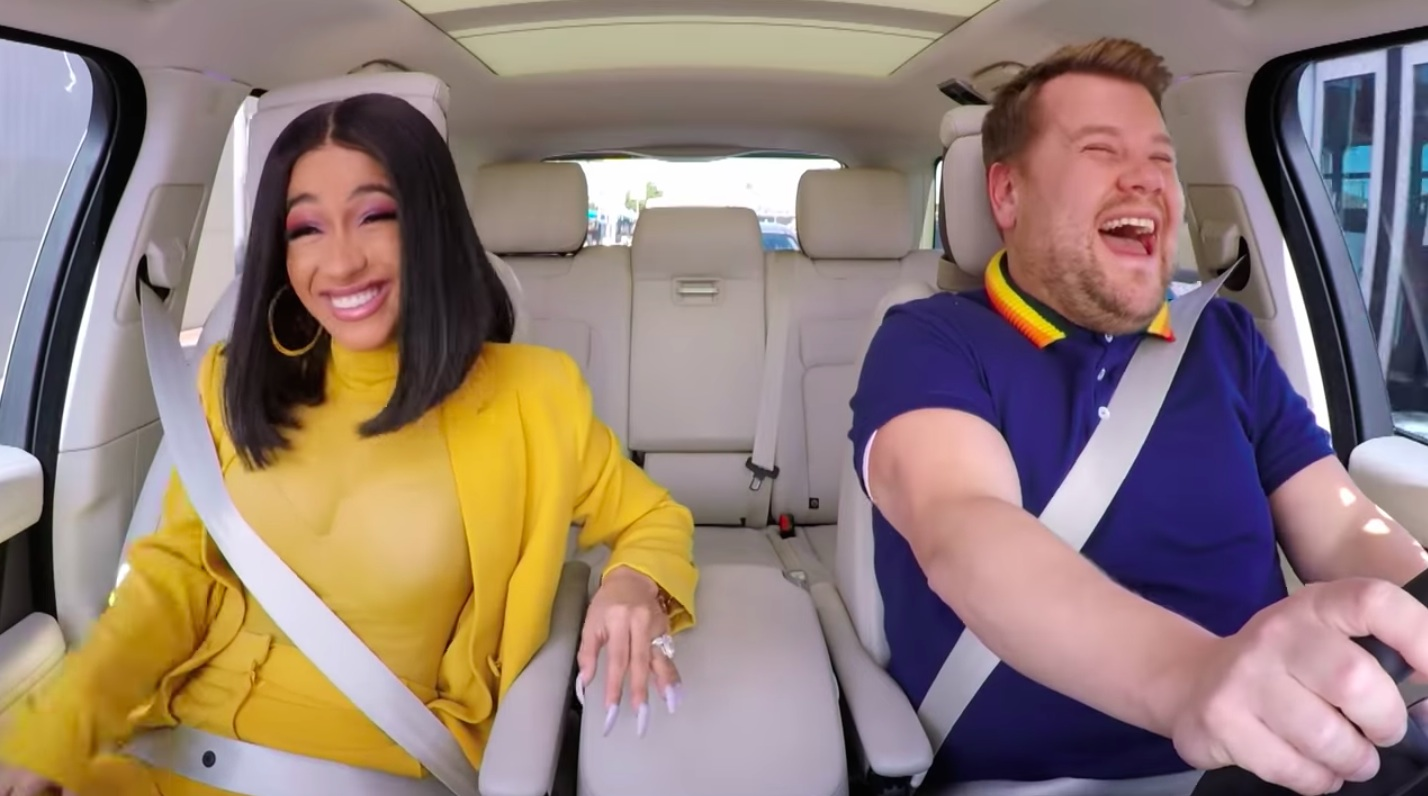 Maybe James Corden should just drive Cardi B around...? Credit: CBS