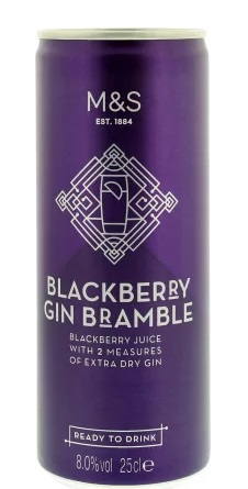 The 8% can has two measures of dry gin inside. (Credit: Marks and Spencer)