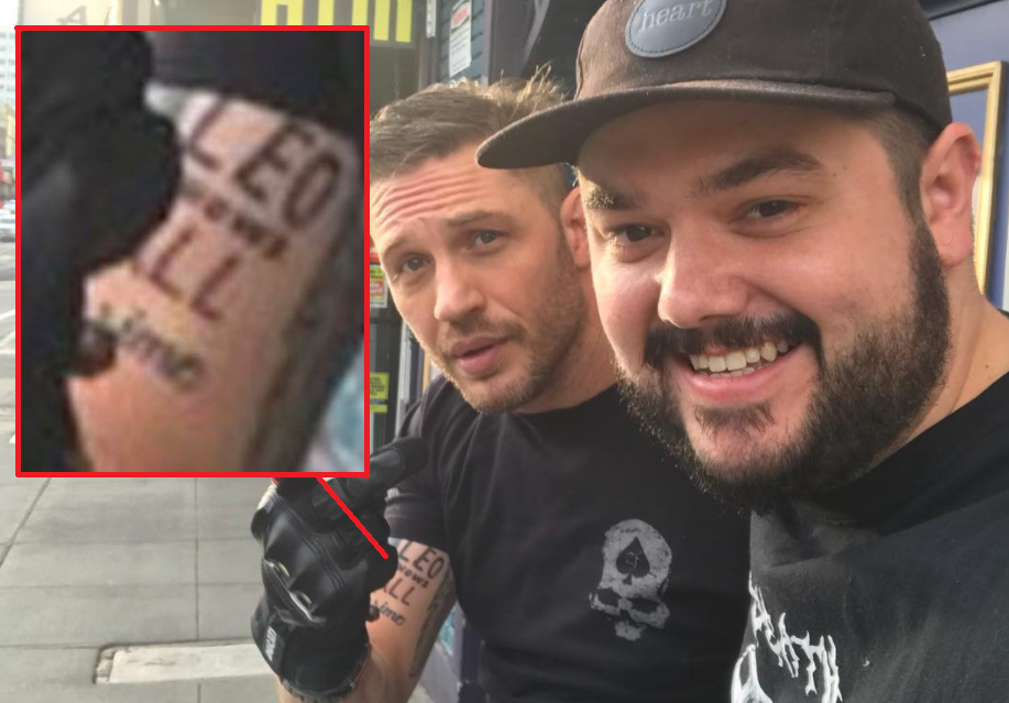 Tom Hardy Just Got A Leonardo Dicaprio Tattoo After Losing A Bet