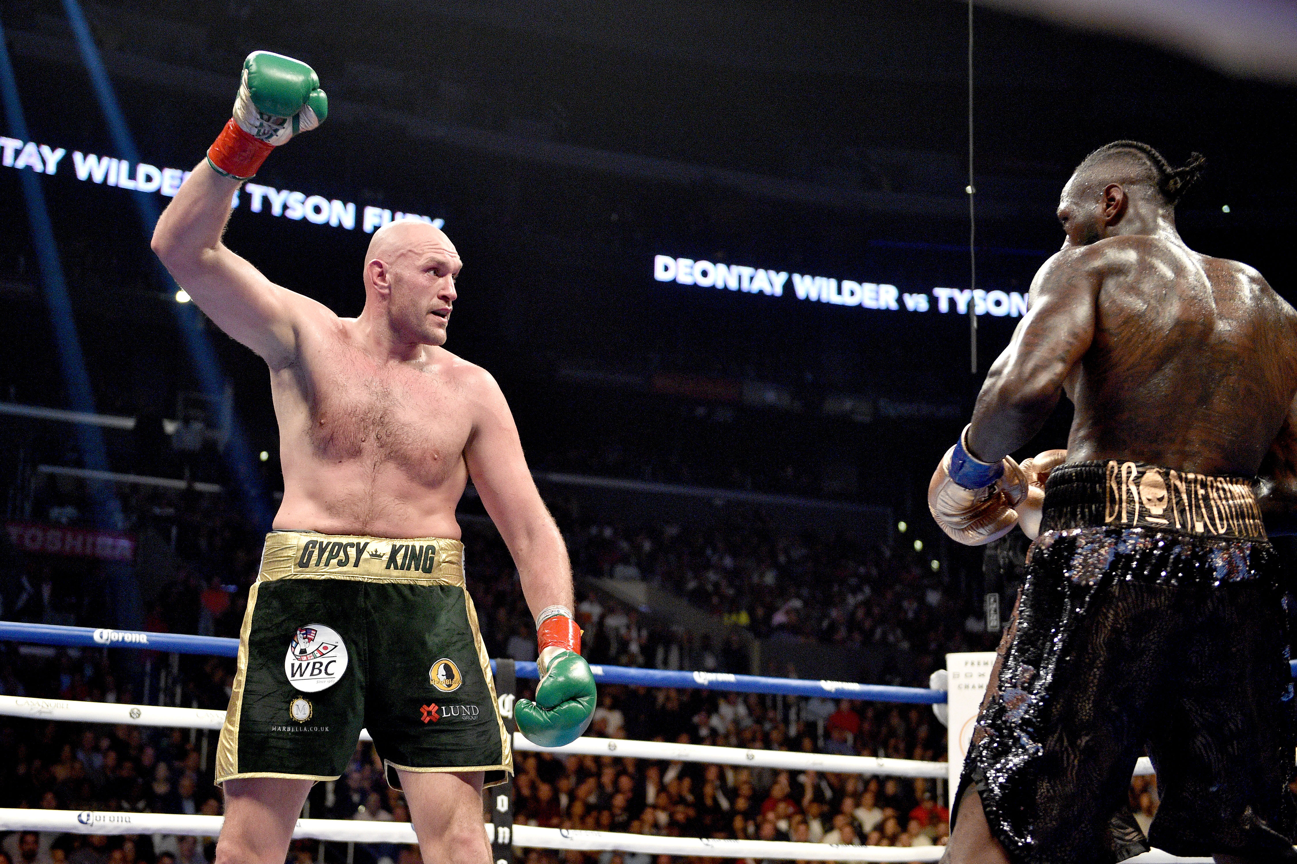 Tyson Fury drew with Deontay Wilder in Los Angeles. Credit: PA